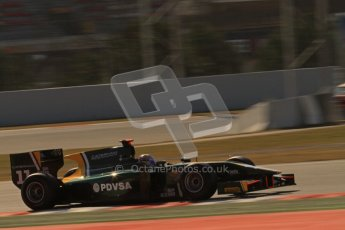 © Octane Photographic Ltd. GP2 Winter testing Barcelona Day 2, Wednesday 7th March 2012. Caterham Racing, Rodolfo Gonzales. Digital Ref : 0236lw7d9087