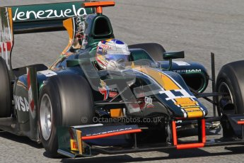 © Octane Photographic Ltd. GP2 Winter testing Barcelona Day 2, Wednesday 7th March 2012. Caterham Racing, Rodolfo Gonzales. Digital Ref : 0236lw7d9139