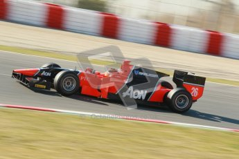 © Octane Photographic Ltd. GP2 Winter testing Barcelona Day 3, Thursday 8th March 2012. Marussia Carlin, Max Chilton. Digital Ref : 0237cb1d5261