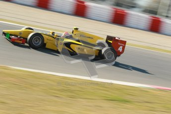 © Octane Photographic Ltd. GP2 Winter testing Barcelona Day 3, Thursday 8th March 2012. DAMS, Felipe Nasr. Digital Ref : 0237cb1d5287