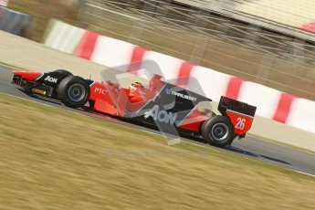 © Octane Photographic Ltd. GP2 Winter testing Barcelona Day 3, Thursday 8th March 2012. Marussia Carlin, Max Chilton. Digital Ref : 0237cb1d5433