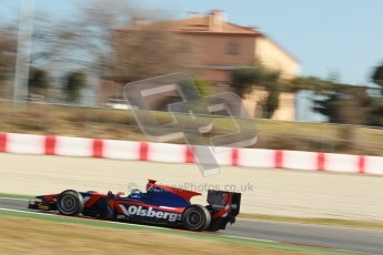 © Octane Photographic Ltd. GP2 Winter testing Barcelona Day 3, Thursday 8th March 2012. iSport International, Marcus Ericsson. Digital Ref : 0237cb1d5807