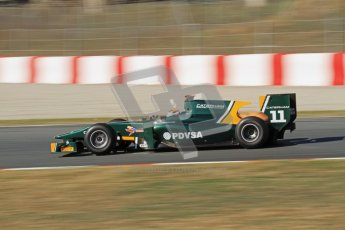 © Octane Photographic Ltd. GP2 Winter testing Barcelona Day 3, Thursday 8th March 2012. Caterham Racing, Rodolfo Gonzales. Digital Ref : 0237lw7d9948