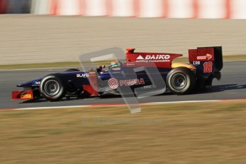 © Octane Photographic Ltd. GP2 Winter testing Barcelona Day 3, Thursday 8th March 2012. Venezuela GP Lazarus, Fabrizio Crestani. Digital Ref : 0237lw7d9956