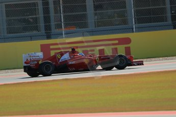 World © Octane Photographic Ltd. F1 USA - Circuit of the Americas - Friday Afternoon Practice - FP2. 16th November 2012. Ferrari F2012 - Fernando Alonso. Digital Ref: 0558lw1d1840