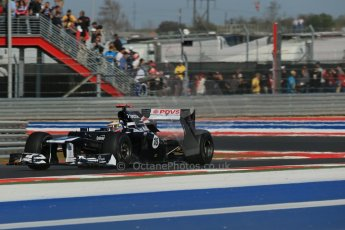 World © Octane Photographic Ltd. F1 USA - Circuit of the Americas - Friday Afternoon Practice - FP2. 16th November 2012. Williams FW34 - Pastor Maldonado. Digital Ref: 0558lw1d2104