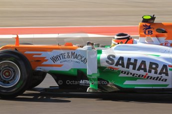 World © Octane Photographic Ltd. F1 USA - Circuit of the Americas - Friday Afternoon Practice - FP2. 16th November 2012. Sahara Force India VJM05 - Nico Hulkenberg. Digital Ref: 0558lw7d3404