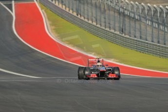 World © Octane Photographic Ltd. F1 USA - Circuit of the Americas - Friday Morning Practice - FP1. 16th November 2012. Lewis Hamilton - Vodafone McLaren Mercedes MP4/27. Digital Ref: 0557lw1d0626