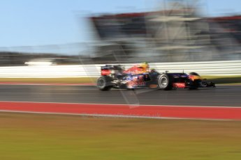 World © Octane Photographic Ltd. F1 USA - Circuit of the Americas - Friday Morning Practice - FP1. 16th November 2012. Red Bull RB8 - Mark Webber. Digital Ref: 0557lw7d2984