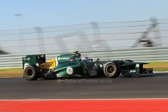 World © Octane Photographic Ltd. F1 USA - Circuit of the Americas - Friday Morning Practice - FP1. 16th November 2012. Caterham CT01 - Vitaly Petrov. Digital Ref: 0557lw7d3047