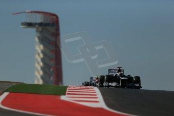 World © Octane Photographic Ltd. Formula 1 USA, Circuit of the Americas - Qualifying. 17th November 2012 Williams FW34 - Pastor Maldonado. Digital Ref: 0560lw1d3142