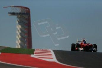 World © Octane Photographic Ltd. Formula 1 USA, Circuit of the Americas - Qualifying. 17th November 2012 Ferrari F2012 - Fernando Alonso. Digital Ref: 0560lw1d3160