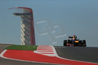 World © Octane Photographic Ltd. Formula 1 USA, Circuit of the Americas - Qualifying. 17th November 2012 Red Bull RB8 - Sebastian Vettel. Digital Ref: 0560lw1d3193