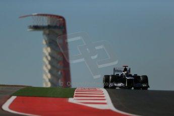 World © Octane Photographic Ltd. Formula 1 USA, Circuit of the Americas - Qualifying. 17th November 2012 Williams FW34 - Pastor Maldonado. Digital Ref: 0560lw1d3263