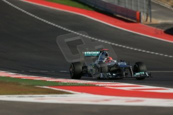 World © Octane Photographic Ltd. Formula 1 USA, Circuit of the Americas - Qualifying. 17th November 2012 Mercedes AMG Petronas F1 W03 - Michael Schumacher. Digital Ref: 0560lw1d3580