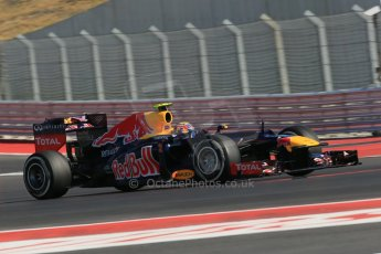 World © Octane Photographic Ltd. Formula 1 USA, Circuit of the Americas - Qualifying. 17th November 2012 Red Bull RB8 - Mark Webber. Digital Ref: 0560lw1d3616