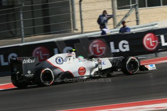 World © Octane Photographic Ltd. Formula 1 USA, Circuit of the Americas - Qualifying. 17th November 2012 Sauber C31 - Sergio Perez. Digital Ref: 0560lw1d3633
