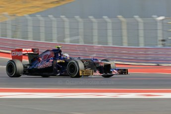World © Octane Photographic Ltd. Formula 1 USA, Circuit of the Americas - Qualifying. 17th November 2012 Toro Rosso STR7 - Jean-Eric Vergne. Digital Ref: 0560lw1d3747