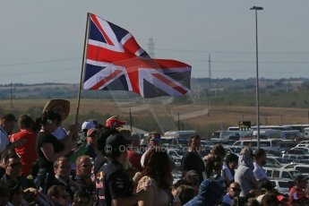 World © Octane Photographic Ltd. Formula 1 USA, Circuit of the Americas - Race - British fans flying the Union Flag. 18th November 2012 Digital Ref: 0561lw1d4442