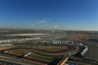 World © Octane Photographic Ltd. F1 USA - Circuit of the Americas - Saturday Morning Practice - FP3. 17th November 2012. The view from the top of the Tower. Digital Ref: 0559lw1d2211