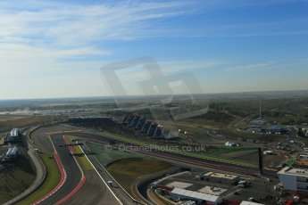 World © Octane Photographic Ltd. F1 USA - Circuit of the Americas - Saturday Morning Practice - FP3. 17th November 2012. View from the Tower. Digital Ref: 0559lw1d2415