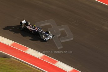 World © Octane Photographic Ltd. F1 USA - Circuit of the Americas - Saturday Morning Practice - FP3. 17th November 2012. Williams FW34 - Bruno Senna. Digital Ref: 0559lw7d3691