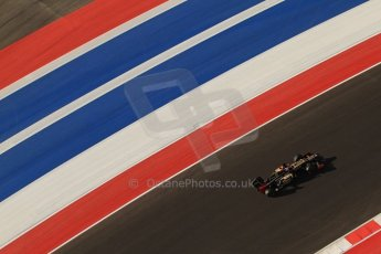 World © Octane Photographic Ltd. F1 USA - Circuit of the Americas - Saturday Morning Practice - FP3. 17th November 2012. Lotus E20 - Kimi Raikkonen. Digital Ref: 0559lw7d3759