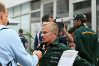 2012 © www.octanephotos.co.uk Circuit of the Americas - Thursday Paddock Interview - Heikki Kovalainen - Caterham. 15th November 2012 Digital Ref: 0556lw1d0568