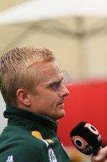 2012 © www.octanephotos.co.uk Circuit of the Americas - Thursday Paddock Interview - Heikki Kovalainen - Caterham. 15th November 2012 Digital Ref: 0556lw1d0577