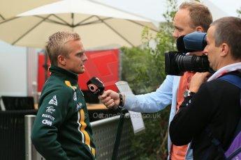 2012 © www.octanephotos.co.uk Circuit of the Americas - Thursday Paddock Interview - Heikki Kovalainen - Caterham. 15th November 2012 Digital Ref: 0556lw1d0589