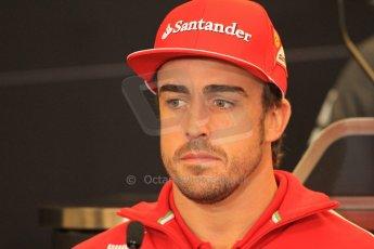 2012 © www.octanephotos.co.uk Circuit of the Americas - Thursday Press Conference - Fernando Alonso - Ferrari. 15th November 2012 Digital Ref: 0556lw7d2781