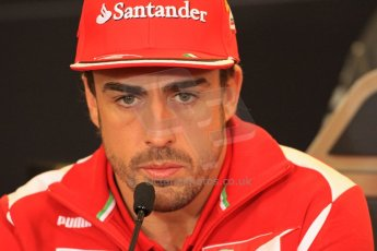 2012 © www.octanephotos.co.uk Circuit of the Americas - Thursday Press Conference - Fernando Alonso - Ferrari. 15th November 2012 Digital Ref: 0556lw7d2873