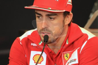 2012 © www.octanephotos.co.uk Circuit of the Americas - Thursday Press Conference - Fernando Alonso - Ferrari. 15th November 2012 Digital Ref: 0556lw7d2887