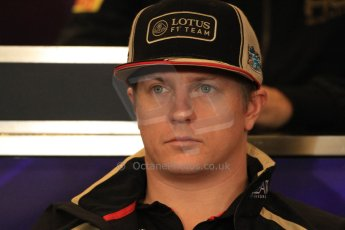 2012 © www.octanephotos.co.uk Circuit of the Americas - Thursday Press Conference - Kimi Raikkonen - Lotus. 15th November 2012 Digital Ref: 0556lw7d2899