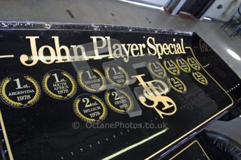 © Carl Jones/Octane Photographic Ltd. 2012. Classic Lotus Festival F1 car demonstation session1  - Brands Hatch, Sunday 19th August 2012. Lotus 79 Rear Wing. Digital Ref : 0467CJ7D8287