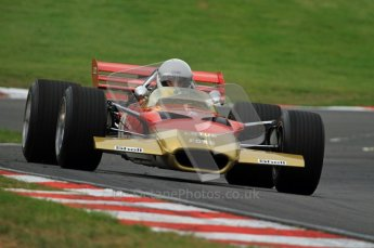 © Carl Jones/Octane Photographic Ltd. 2012. Classic Lotus Festival F1 car demonstation session1  - Brands Hatch, Sunday 19th August 2012. Clive Chapman, Lotus 49B. Digital Ref : 0467CJ7D8435