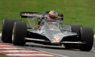 © Carl Jones/Octane Photographic Ltd. 2012. Classic Lotus Festival F1 car demonstation session1  - Brands Hatch, Sunday 19th August 2012. Martin Donnelly, Lotus 79. Digital Ref : 0467CJ7D8525