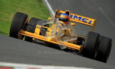 © Carl Jones/Octane Photographic Ltd. 2012. Classic Lotus Festival F1 car demonstation session2  - Brands Hatch, Sunday 19th August 2012. Martin Donnelly, Lotus 102.  Digital Ref : 0467cj7d8581