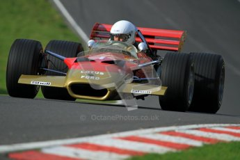 © Carl Jones/Octane Photographic Ltd. 2012. Classic Lotus Festival F1 car demonstation session2  - Brands Hatch, Sunday 19th August 2012. Clive Chapman, Lotus 49B.  Digital Ref : 0467cj7d8609