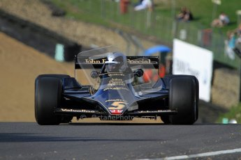© Carl Jones/Octane Photographic Ltd. 2012. Classic Lotus Festival F1 car demonstation session2  - Brands Hatch, Sunday 19th August 2012. Andrew Morris, Lotus 79.  Digital Ref : 0467cj7d8636