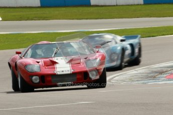 "© Octane Photographic Ltd. 2012 Donington Historic Festival. ""1000km"" for pre-72 sports-racing cars, qualifying. Ford GT40 - Chris Ball/Nick Ball. Digital Ref : 0319cb1d8369"