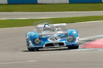 "© Octane Photographic Ltd. 2012 Donington Historic Festival. ""1000km"" for pre-72 sports-racing cars, qualifying. Matra MS650 - Rob Hall. Digital Ref : 0319cb1d8401"