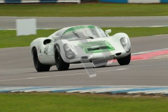"© Octane Photographic Ltd. 2012 Donington Historic Festival. ""1000km"" for pre-72 sports-racing cars, qualifying. Porsche 910 - Peter Vogele. Digital Ref : 0319cb1d8469"