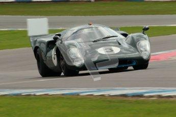 "© Octane Photographic Ltd. 2012 Donington Historic Festival. ""1000km"" for pre-72 sports-racing cars, qualifying. Lola T70 Mk.3B - Jason Wright/Michael Gans. Digital Ref : 0319cb1d8471"