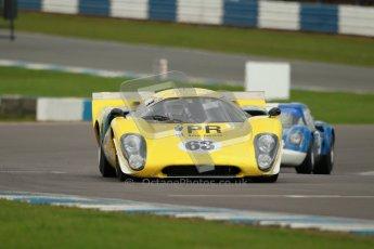 "© Octane Photographic Ltd. 2012 Donington Historic Festival. ""1000km"" for pre-72 sports-racing cars, qualifying. Lola T70 - Grant Tromans. Digital Ref : 0319cb1d8486"