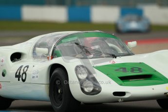 "© Octane Photographic Ltd. 2012 Donington Historic Festival. ""1000km"" for pre-72 sports-racing cars, qualifying. Porsche 910 - Peter Vogele. Digital Ref : 0319cb1d8494"