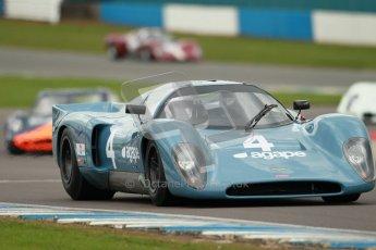 "© Octane Photographic Ltd. 2012 Donington Historic Festival. ""1000km"" for pre-72 sports-racing cars, qualifying. Chevron B16 FVC - Emanuele Benedini/Giampaolo Benedini. Digital Ref : 0319cb1d8495"