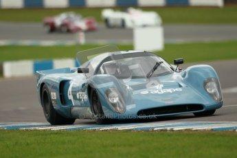 "© Octane Photographic Ltd. 2012 Donington Historic Festival. ""1000km"" for pre-72 sports-racing cars, qualifying. Chevron B16 FVC - Emanuele Benedini/Giampaolo Benedini. Digital Ref : 0319cb1d8517"