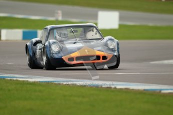 "© Octane Photographic Ltd. 2012 Donington Historic Festival. ""1000km"" for pre-72 sports-racing cars, qualifying. Chevron B8 - Sandy Watson/Martin O'Connell. Digital Ref : 0319cb1d8593"