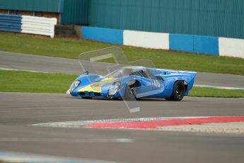 "© Octane Photographic Ltd. 2012 Donington Historic Festival. ""1000km"" for pre-72 sports-racing cars, qualifying. Lola T70 - David Coplow/Martin Stretton. Digital Ref : 0319cb1d8663"